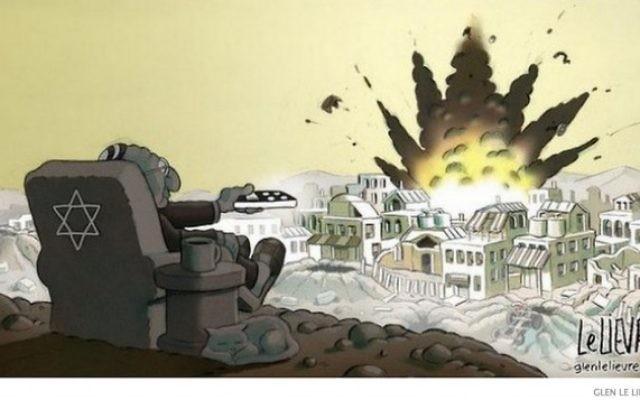 Une capture d'écran du dessin controversé de Glen Le Lievre paru dans le Sydney Morning Herald.