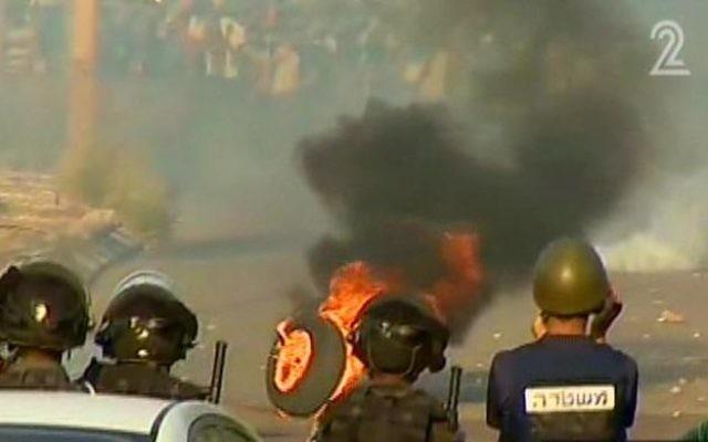 Affrontements à Tamra (Crédit: capture d'écran Deuxième chaîne)