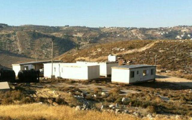 Un des nouveaux avant-postes dans le Gush Etzion (Crédit : Conseil régional du Gush Etzion Regional)