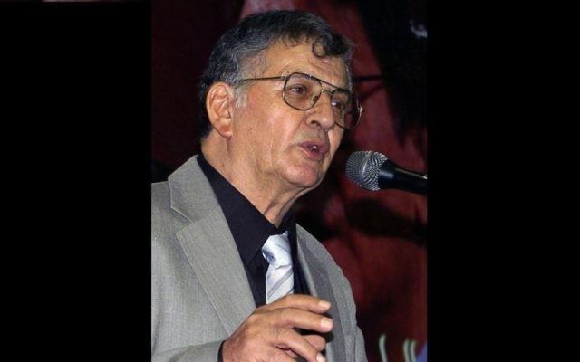 Poète druze Samih al-Qassem - septembre 2008, (Crédit : Fethi Beladi / AFP)