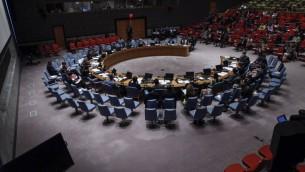 Le Conseil de sécurité des Nations unies se réunit à l'ONU le 22 juillet 2014 à New York City. (Crédit : Kena Betancur / Getty Images / AFP)