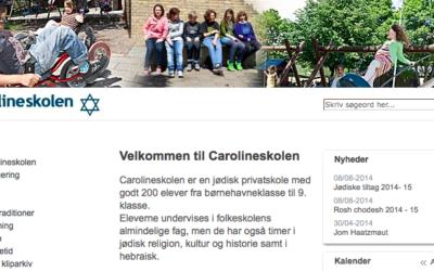 Capture d'écran du site de l'école juive vandalisée à Copenhague