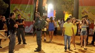 Il y avait 5 000 personnes au Festival Briza de l'année dernière, qui a également été tenu sous la menace de roquettes à partir de Gaza (Crédit photo: Edi Israël / flash 90)