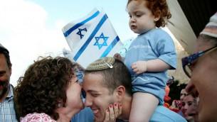 Nouveaux immigrants arrivés à bord du 52ème vol en Israël - 11 août 2014 (Crédit : Gideon Markowicz/FLASH90)