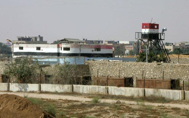 Une tour de contrôle égyptienne à le frontière de Rafah (Crédit : Abed Rahim Khatib/Flash90)
