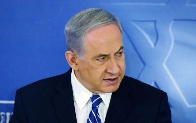 Benjalin Netanyahu (Crédit : Haim Zach/GPO/Flash90)