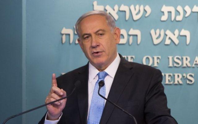 Benjamin Netanyahu - 27 août 2014 (Crédit : Yonatan Sindel/Flash 90)