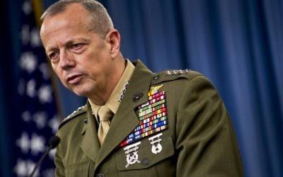 John Allen, général à la retraite de l'armée américaine, le 23 mai 2012. (Crédit : Chad J. McNeeley/US Navy/DoD)