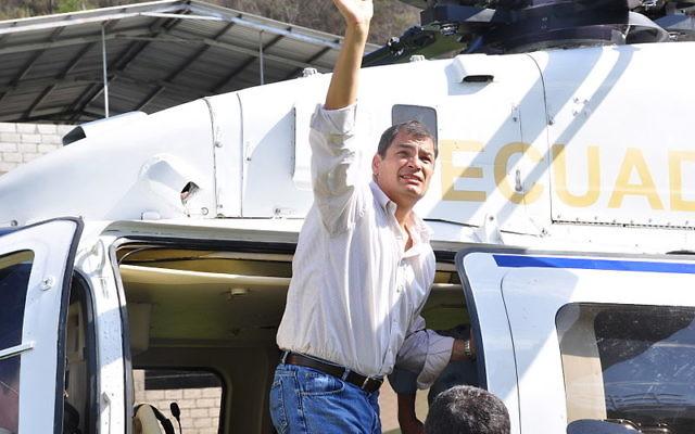 Rafael Correa (Crédit : MunicipioPinas/Wikimedia commons/CC BY-SA 2.0)