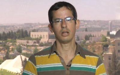 Hagai El-Ad, directeur de B'Tselem. (Crédit : capture d'écran YouTube)