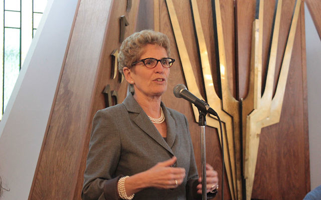 Kathleen Wynne (Crédit  : Uiaeli/Wikimedia commons/CC BY SA3.0)