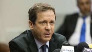 Le chef du Parti travailliste Isaac Herzog (Crédit : Flash 90)