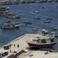 Port de pêche à Gaza (Crédit : AFP)