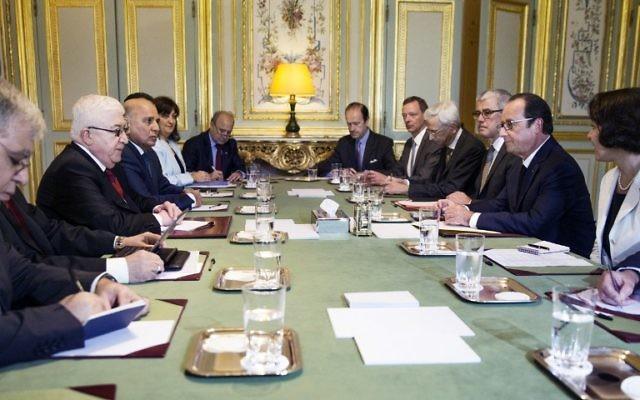 Conférence à Paris sur la lutte contre le terrorisme en Irak - 15 septembre 2014 (Crédit : AFP)