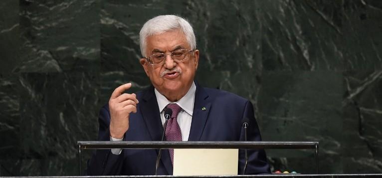 Le président de l'Autorité palestinienne, Mahmoud Abbas, s'adresse à la 69e session de l'Assemblée générale des Nations unies le 26 septembre 2014, à New York. (AFP/Timothy A. Clary)
