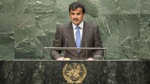 L'Emir du Qatar, le Cheikh Tamim ben Hamad Al-Thani (Crédit : Cia Pak/Nations unies)