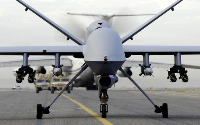 Photo d'illustration d'un drone américain MQ-9 Predator (Crédit : Honorable allemand / Flickr / fichier)