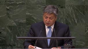 Capture d'écran Erlan Abdyldayev à l'ONU
