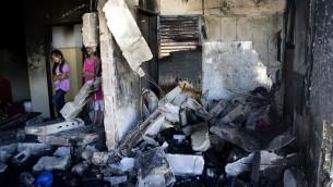 La maison bombardée d'Abou Aysha (credit : Courtoisie/Q.G)