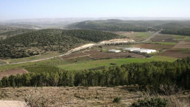La vallée d'Eyla (Crédit : Shmuel Bar-Am)