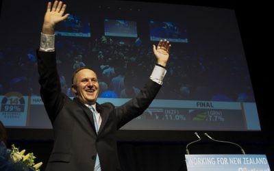 Le Premier ministre néo-zélandais, John Key, (Crédit : AFP PHOTO/MARTY MELVILLE)