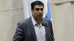 Le député Yoni Chetboun d'Habayit Hayehudi (Crédit : Miriam Alster/Flash90)