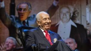 Shimon Peres - septembre 2014 (Crédit : Flash90)