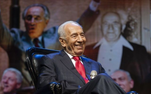 Shimon Peres - septembre 2014 (Crédit : Flash90)