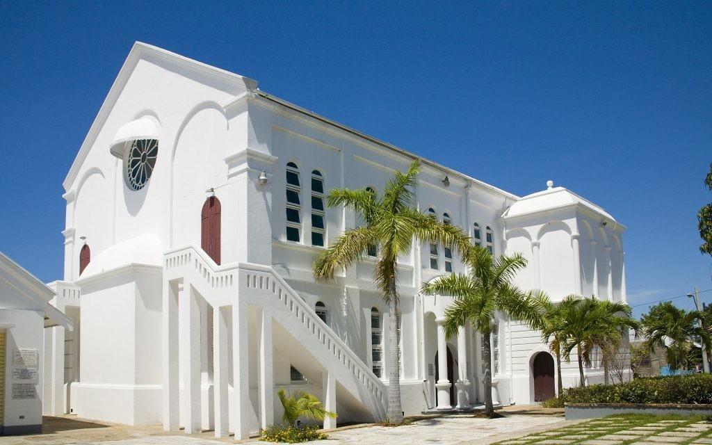 La congrégation Kahal Kadosh Shaare Shalom est la seule synagogue restante en Jamaïque. (Crédit : Avec l'aimable autorisation de la Congrégation Kahal Kadosh Shaare Shalom via JTA)