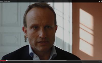 Le ministre danois des Affaires étrangères danois, Martin Lidegaard (Crédit : Capture d'écran YouTube)
