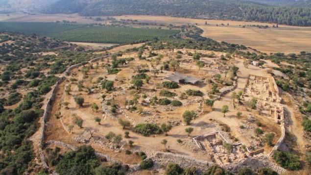 Photo aérienne de Qeifaya (Crédit : Hebrew University et l'Autorité israélienne des Antiquités )