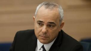 Yuval Steinitz à une session de la commission de la sécurité et des affaires étrangères de la Knesset le 16 octobre 2014 (Crédit Flash90)