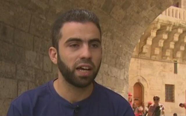 Yosef Abobaker (Crédit : capture d'écran CNN)