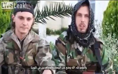 Français combattant en Syrie au nom du Djihad. Illustration. (Crédit : capture d'écran YouTube)