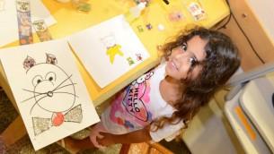 Shilat Levy : une patiente juive originaire de Haifa et âgée de 5 ans (Crédit : Ofer Golan)