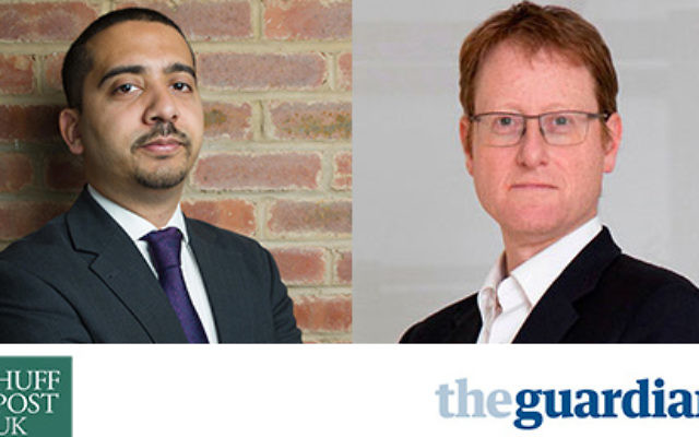 Mehdi Hasan (g) et Jonathan Freedland
