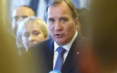Stefan Lofven (Crédit : AFP/TT NEWS AGENCY/JANERIK HENRIKSSON)