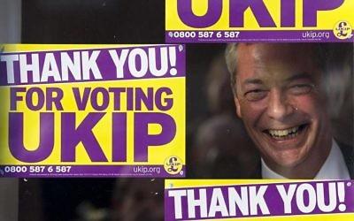 Nigel Farage (Crédit : JUSTIN TALLIS / AFP)