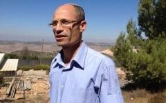 Davidi Perl, chef du conseil local du Gush Etzion, le 6 octobre 2014. (Photo: Elhanan Miller/Times of Israel)