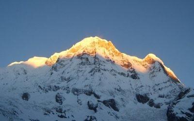 Vue sur le mont Annapurna au Népal (Crédit : Wikimedia Commons/CC BY-SA 3.0)