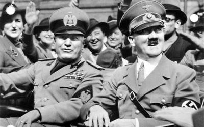 Benito Mussollini et Adolf Hitler (Crédit : CC-BY-SA-3.0-de)