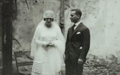 Capture d'écran du mariage des Segni à Perugia (Crédit : YouTube)