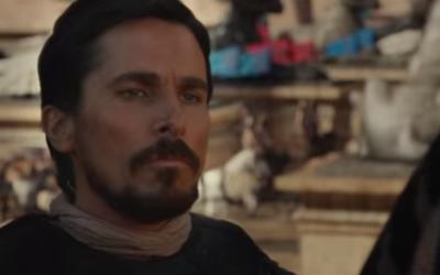 """Christian Bale dans """"Exodus"""" (Crédit : Capture d'écran YouTube)"""