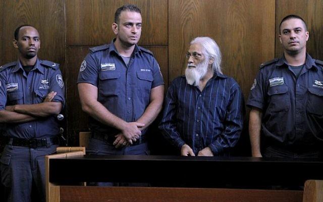 Goel Ratzon au tribunal de Tel Aviv (Crédit : Dror Einav/Pool/Flash90)