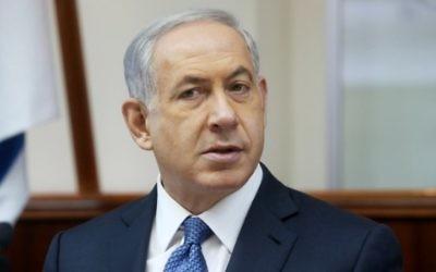 Benjamin Netanyahu - 22 octobre 2014 (Crédit : Marc Israel Sellem/POOL/Flash90)