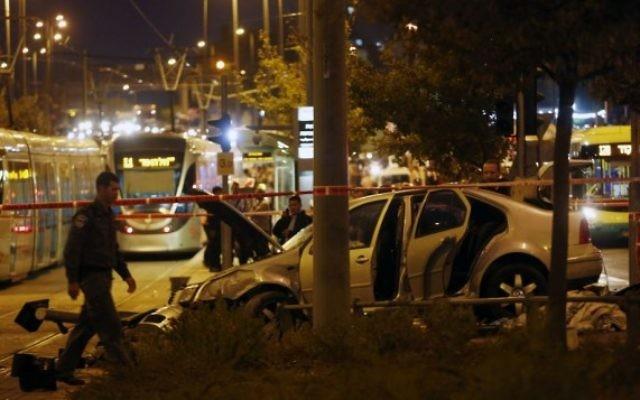 Plusieurs blessés suite à une possible attaque terroriste à Jérusalem (Crédit : Yonatan Sindel/Flash90)