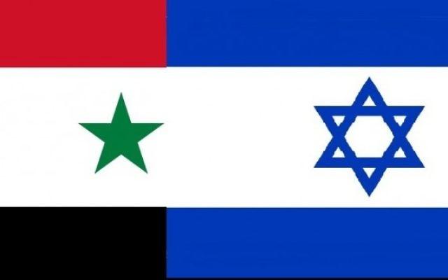 Drapeaux syrien et israélien