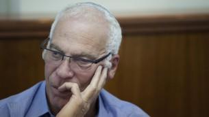 Le ministre du Logement et de la Construction, Uri Ariel, le 22 septembre 2014 à Jérusalem (Crédit : Yonathan Sindel/Flash90)