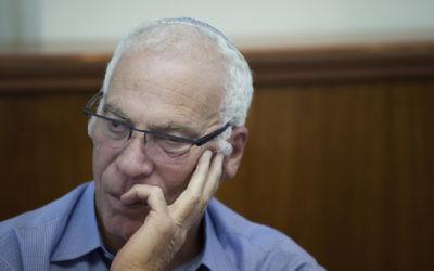 Uri Ariel  à Jérusalem, le 22 septembre 2014. (Crédit : Yonathan Sindel/Flash90)