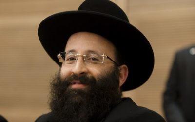 Le rabbin du mur Occidental, Shmuel Rabinovitch. (Crédit : Flash90)